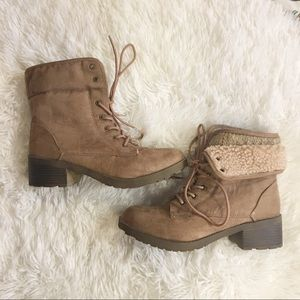 Rock And Candy Brown Lace Up Heel Boots